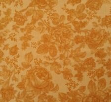 "1 yd 20"" Rendezvous Kensington Studio Quilting Treasures Tonal Gold Rose Print"