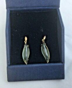 Rare   9k gold Lemon Citrine & White Topaz Earrings