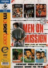 MEN ON MISSION 5 BOLLYWOOD DVD'S - SARFAROSH, QAYAMAT, FIZA, A WEDNESDAY.