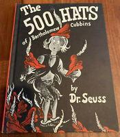 The 500 Hats of Bartholomew Cubbins Dr. Seuss 1938 Hardcover 1st Book Club Print