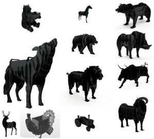 Pack of DXF Files, 12 Animal BBQ GRILL DXF Files for CNC Plasma or Laser Cutter