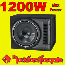 "Rockford FOSGATE PUNCH 12"" pollici 1200 W CAR AUDIO SUBWOOFER SUB WOOFER BASS BOX"