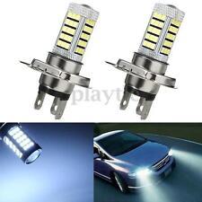 2x H4 9003 HB2 2835 LED 63 SMD Car Projector Fog Driving Light Bulbs White 12V