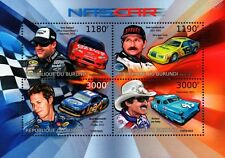 2012 NASCAR Race Drivers Racing Car Stamp Sheet (Oldsmobile/Chevy/Dodge/T-Bird)