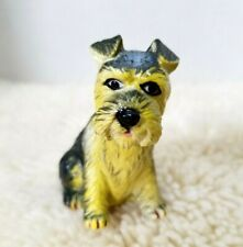 """Vintage New-Ray Soft Rubber Miniature Schnauzer Dog Toy Figure 2 1/4"""" Tall"""