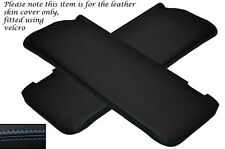 BLUE STITCH 2X SUN VISORS LEATHER COVERS FITS MERCEDES W108 STACKLIGHT 65-72