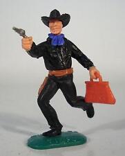 Timpo Toys Cowboy laufend mit rarer roter US Geldtasche