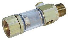 "General Pump Brass Inline Water Filter - 1/2"" NPT Male x 3/4"" GH Female #100651"