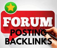 1000 forum posting backlinks. Best for SEO - Limited Time Offer!