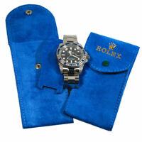 Pochette tessuto Custodia Monoposto Blu Porta Rolex  Novita'
