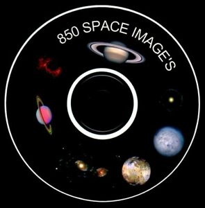 850 OUTER SPACE NASA PLANET IMAGES ON CD ART CRAFT CARD MAKING