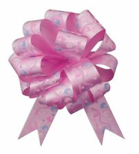 """10 - 5"""" Happy Birthday Pink Bow Pull Bows Decorations Chair Table Centerpiece"""