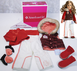 American Girl Doll Clothes NICKI SKI WEAR Outfit Boots Gloves Ticket Shoes BOX!