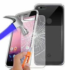 For Google Pixel XL - Ultra Thin Clear TPU Gel Skin Case Cover & Glass