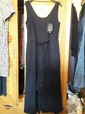 Bnwt new fat face copper and black linen blend navy blue hannah jumpsuit size 8