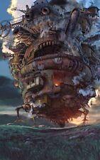 Howls Moving Castle Studio Ghibli Movie Poste Print T1769 |A4 A3 A2 A1 A0|