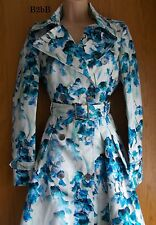 NewWT Karen Millen floral print military style trench coat jacket US 6 UK 10