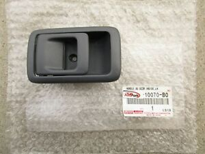 95 - 97 TOYOTA TERCEL REAR LEFT SIDE INTERIOR DOOR HANDLE BEZEL TRIM GRAY NEW