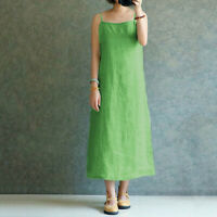 Simple Lady Women Summer Casual Spaghetti Strap Underdress Loose Maxi Dress New