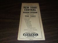 APRIL 1962 NYC NEW YORK CENTRAL FORM 105 HUDSON DIVISION PUBLIC TIMETABLE