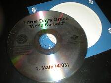 Three Days Grace World So Cold CD SINGLE one track cardboard sleeve