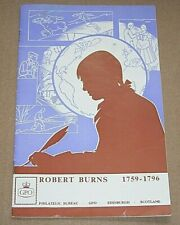 1966 ROBERT BURNS STAMP ISSUE BOOKLET BY THE GPO - GENERAL POST OFFICE
