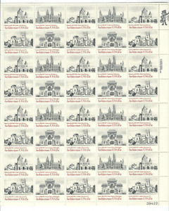 Scott #1838/41...15 Cent...Architecture...Sheet With 40 Stamps