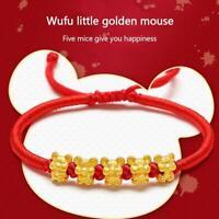 Chinese Rat Mouse Rote Seil Armbänder Armband Armreif Bangle New Wristband N7S9