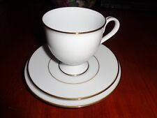 Noritake GOLDLANE White With Gold Trim Trio Cup Saucer Side Plate N489
