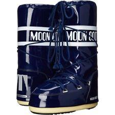 Navy Blue Vinyl Moon Boots 39/40 8/8.5/9