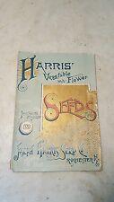 1889 Harris Vegetable Flower Seed Illustrated Catalog Rochester NY