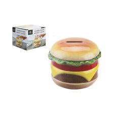Novelty Hamburger Burger Ceramic Money Bank Kids Home Office Novelty Fun