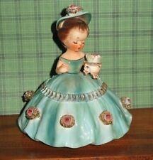 New ListingVintage Cherchez La Femme Girl Figurine Original Htf this dress design Roses