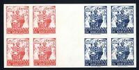 Bloque cuatro unido sellos sin dentar Ayuntamiento Barcelona 1943 nº49/50 ref.02
