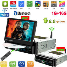Auto Retractable 7'' MP5 Car Bluetooth Player DVD GPS Navi Android 8.0 1+16GB
