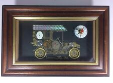 "Decorative Wall Hanging  Clock Part Sculpture ""London Taxi 1915"""