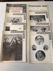 Lot of 8 MULESKINNER NEWS Bluegrass magazines 1970-71