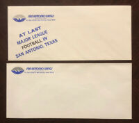 """RARE 1975 WFL Lot San Antonio Wings Lot of 2 Envelopes """"Fly With The Wings"""""""