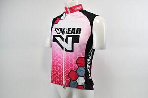 Medium Women's Verge V Gear Cycling Wind Vest Pink/Black/White CLOSEOUT