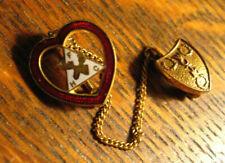 Moose Lodge Lapel Pin - Vintage Women Of The Moose WOTM Heart Member Badge Pin