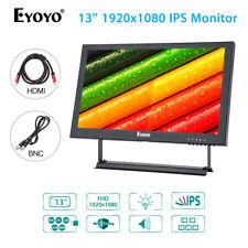 "EYOYO 13"" 1920x1080 IPS Monitor Video Audio VGA BNC HDMI For CCTV PC DVR Camera"