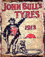 JOHN BULL TYRES GARAGE METAL WALL SIGN RETRO  STYLE12x16in 30x40cm shed man cave