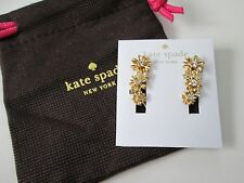 NWT Auth Kate Spade Dazzling Daisies Gold Daisy Flower Ear Crawler Earrings $58