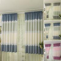 Thermal Pencil Pleat Blackout Window Curtain Panel Rod Pocket Net Slot Top Tape