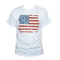 AMERICAN FLAG USA Distressed Stars And Stripes T SHIRT Graphic Tee S M L XL XXL