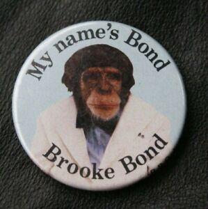 JAMES BOND 007 Pin Badge MY NAME'S BOND, BROOKE BOND PG Tips
