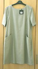 Next Tailoring Beige Stripe Shift Dress Size 16 BNWT Tag £28