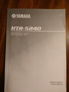 Yamaha HTR-5240 Receiver Owners Manual