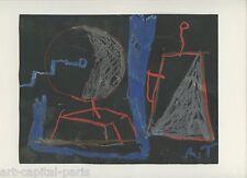 TEXIER RICHARD DESSIN AU CRAYON GRAS 1988 SIGNÉ RT HANDSIGNED PASTEL DRAWING