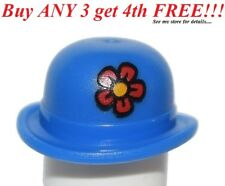 ☀️NEW Lego Boy/Girl Minifig Hat Blue Bowler Wth Red Flower Clown Hat